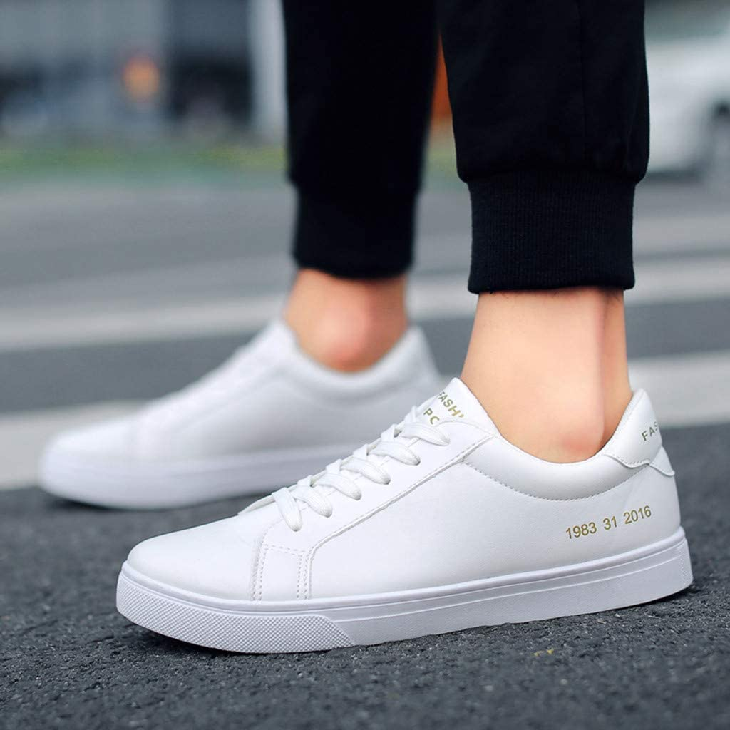 NPRADLA Femmes Hommes Couples Casual Baskets Mode Lace Up Respirant Sport Running Sneakers Board Chaussures
