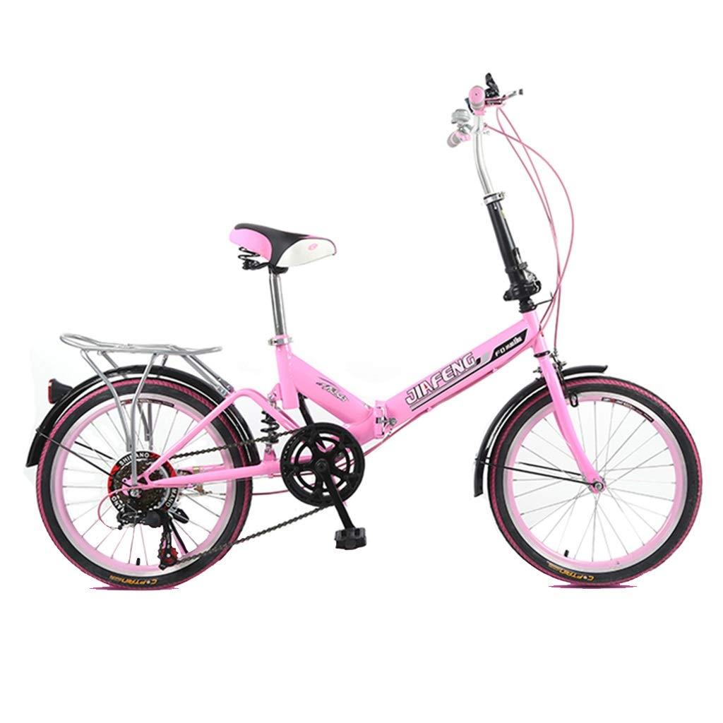 福袋 折りたたみ自転車 自転車折りたたみ自転車ユニバーサル6種類の可変速度20インチホイール自転車ポータブル大人男性と女性自転車 (Color : Pink, Pink, Size B07PPZRP6N : : 155*30*94cm) 155*30*94cm Pink B07PPZRP6N, 陶磁器専門店CUP's:3a0e980b --- senas.4x4.lt