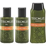 Trichup Hair Fall Control Kit (Hair Fall Control Oil 2 x 200ml, Hair Fall Control Shampoo 200ml) (PACK OF 3)