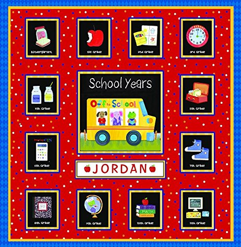 School Years Personalized 24 Pocketful of Memories Book Album:Off to School Dena - School Book Record