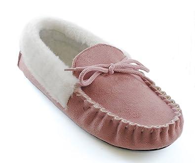 Slumberz - Zapatillas de estar por casa para mujer, color rosa, talla 35