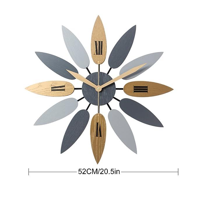 YAHAMA Reloj Pared Vintage Reloj Pared Grande XXL Vintage - diámetro 52 cm: Amazon.es: Hogar