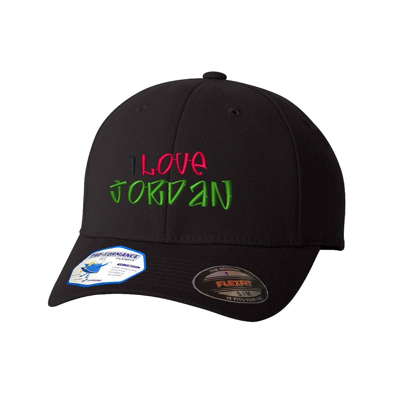 48f1d0538238 Amazon.com  I Love Jordan Flexfit Pro-Formance Embroidered Cap Hat  Clothing