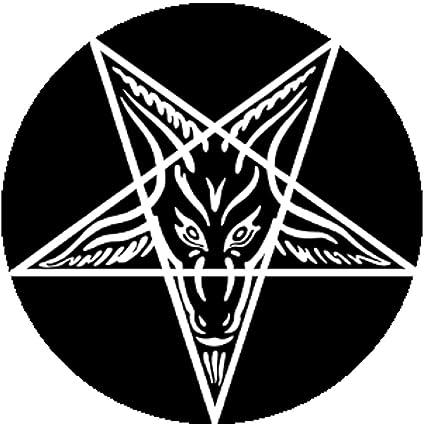 Amazon Black Button Pin Goat Of Mendes Pentagram Satan Satanic