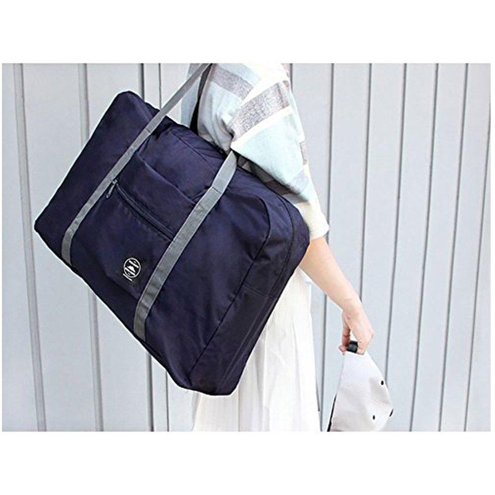 Foldable Travel Bag for Women Waterproof Lightweight Tote Bag Shoulder strap Duffel Bag Portable Bag (Blue) by MMIRAG (Image #3)