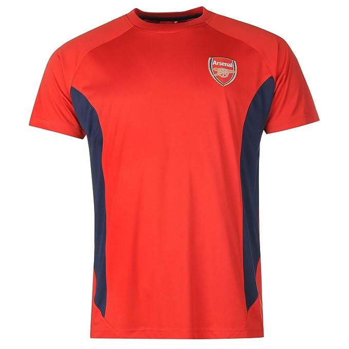Source Lab Hombre Arsenal Poliester Camiseta Futbol Manga Corta Cuello Redondo: Amazon.es: Ropa y accesorios