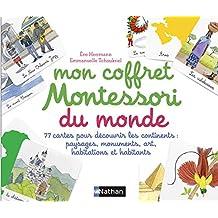 Coffret - Mon coffret Montessori du monde: 77 cartes pour découvrir les continents: paysages, monuments, arts, habitations et habitats