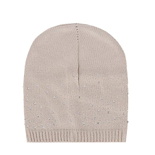 d2e5e9ea2bb Image Unavailable. Image not available for. Color  URIBAKE ❤ Fashion  Women s Baggy Beanie Sequins Stretch Knitted Wool Winter Warm Crochet Hat  Cap