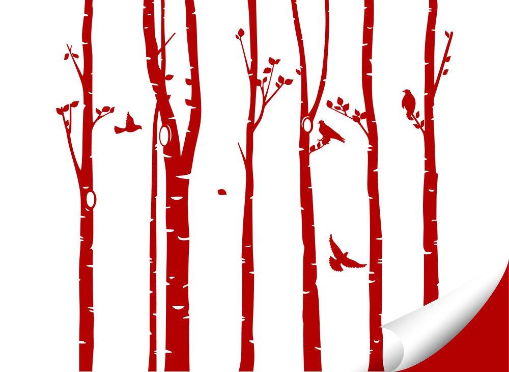 Grandora Wandtattoo XXL Birkenstämme Vögel Vögel Vögel I weiß (BxH) 267 x 250 cm I Birke Flur Wohnzimmer Sticker Aufkleber Wandsticker Wandaufkleber Bäume W5449 B0746J3YNB Wandtattoos & Wandbilder d17eec