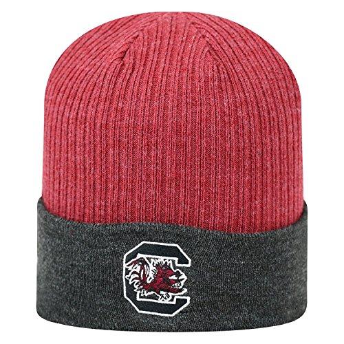 - Top of the World NCAA South Carolina Fighting Gamecocks Delegate Knit Hat, One Size, Garnet/Black