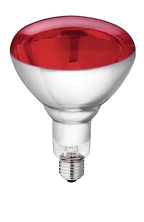 Lot De 5 Ampoule Infrarouge En Verre Trempe Philips 250 W Rouge E 27