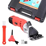 ReaseJoy 500W Electric Sheep Wool Shears Goat Grooming Clippers Hair Fur Shearing Clipping with Carrying Case Red