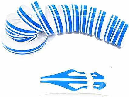 "US SELLER!12mm 1//2/"" PIN STRIPE PinStriping Double TAPE Decal Vinyl Sticker BLUE"