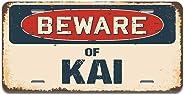 SignMission Beware of Kai Aluminum License Plate 12
