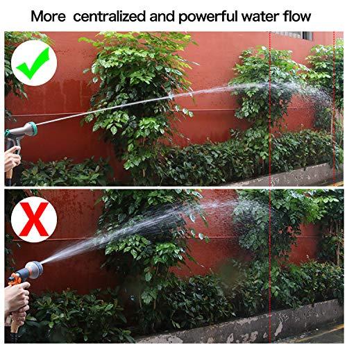Garden Hose Nozzle Spray Nozzle, Hose Spray Heavy Duty with 9 Adjustable Watering Patterns