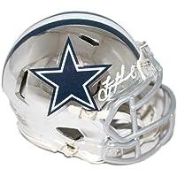 $248 » Troy Aikman Signed Mini Helmet - Chrome BAS 22942 - Beckett Authentication - Autographed NFL Mini Helmets