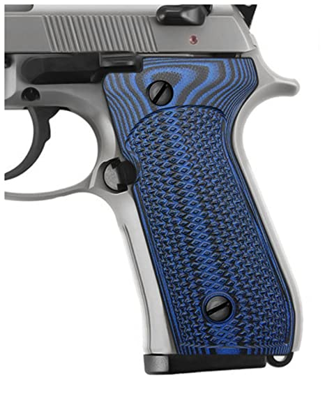 Cool Hand G10 Grips for Beretta 92/96 Full Size, 92 fs, m9, 92a1, 92 INOX,  Checkered Texture