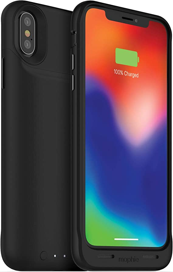 Amazon Com Mophie Juice Pack Wireless Qi Wireless Charging Protective Battery Case Made For Apple Iphone X Black 401002004 Чехол smart battery case для iphone 11 pro. mophie juice pack wireless qi wireless charging protective battery case made for apple iphone x black 401002004