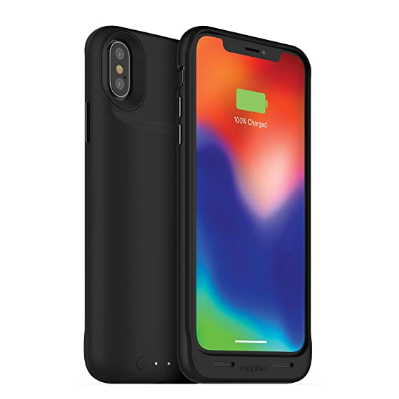 outlet store a92ec e1cbc mophie Juice Pack Air - Wireless Charging - Protective Battery Case - Made  For Apple iPhone X - Black
