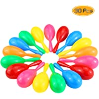 Wpxmer 30 Pack Colorful Maracas Shakers Classroom Musical Instrument Noise-Making Toys for Party Favors