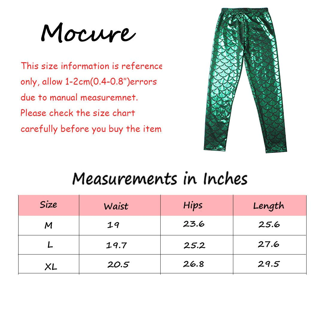 Mocure Girls Cute Fish Scales Legging Tights Super Soft Breathable Slim Long Pants