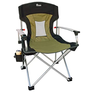 EARTH NEW AGE VENTED BACK OUTDOOR ALUMINUM FOLDING LAWN CHAIR
