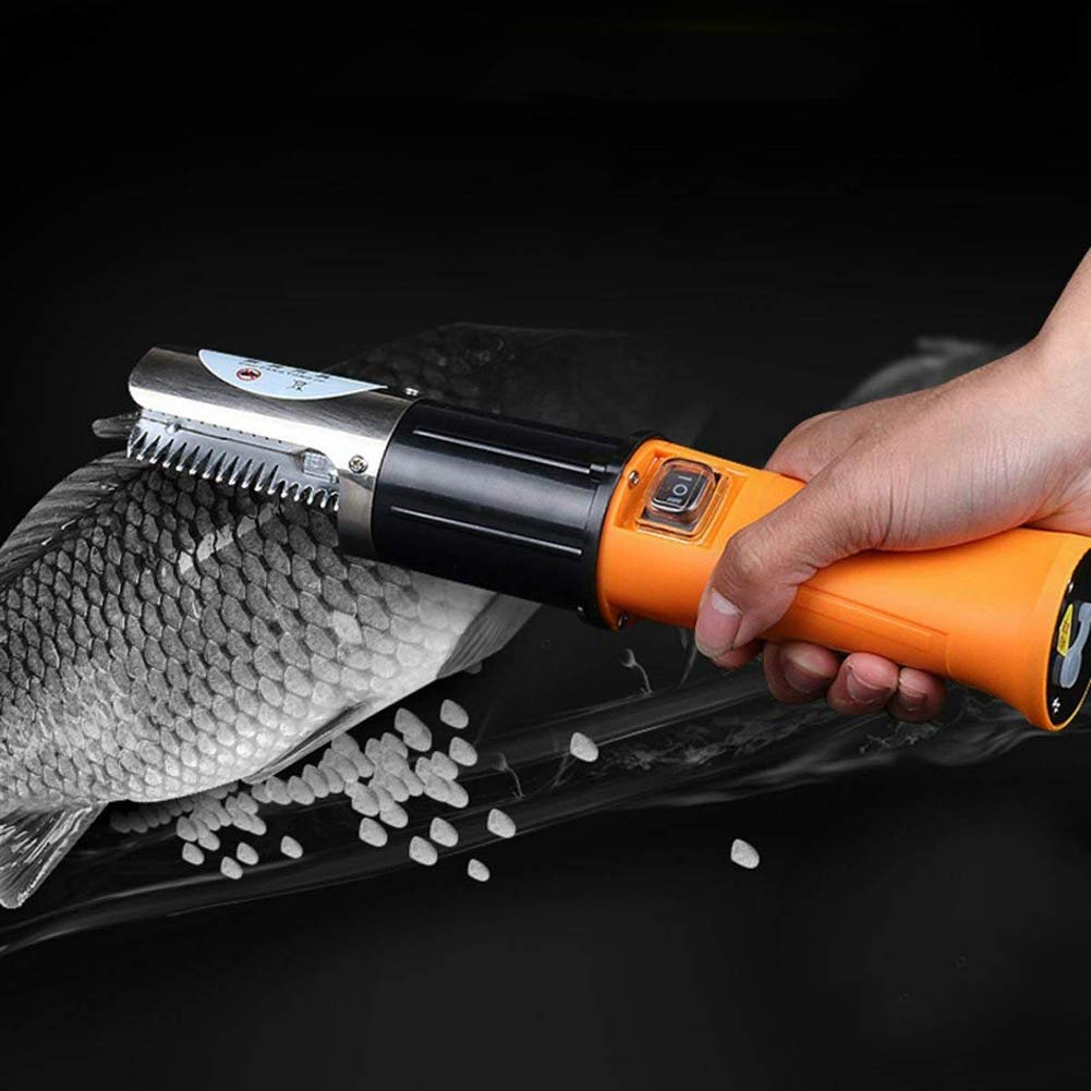 Forart Electric Fish Scaler Fishing Cleaner Skinner Scale Remover Cleaner Rechargeble Scaler Waterproof Scraper for Fish Cleaning Tool by Forart (Image #3)