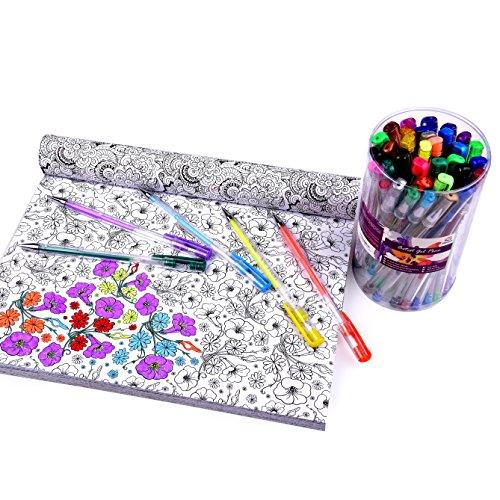 Vinci's Secret 40 Color Artist Gel Pen Set with eBook for Adult, Large