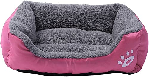 Glumes Rectangle Pet Dog Bed – Soft Lounge Sofa Cuddler, Offers Head, Neck and Joint Support Comfortable Cushion, Waterproof Cover, Anti-Chewing, Square Bed for Dog Cat