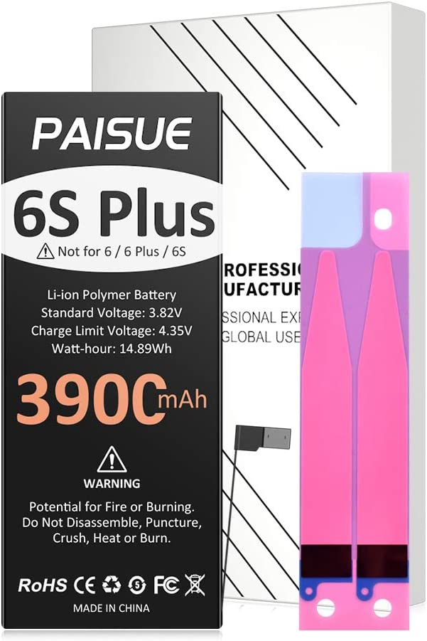 3900mAh Battery for iPhone 6S Plus, 2021 New Upgraded Higher Capacity New 0 Cycle Battery Replacement for iPhone 6S Plus Models A1634 A1687 A1699 (No Tool)