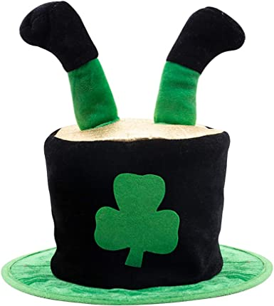 5 IN A PACK FANCY DRESS 5 X IRISH SHAMROCK CLOVER BOWLER HAT ST PATRICKS DAY