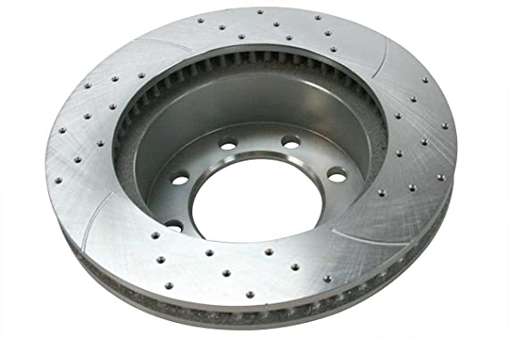 Drill Slotted Rotors Prime Choice Auto Parts BRKPKG004080 Front 4 2 Metallic Pad