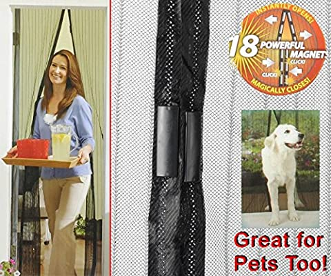 Magic Mesh Hands-Free Screen Door,As Single Doors,Sliding Doors,RVs and More