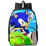 HGYYIO 3D Anime Sonic Impreso Mochila de la Escuela Primaria/Mochila para Niños niñas 6-12 años de Edad Impermeable…
