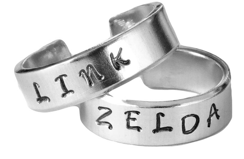 Link and Zelda Ring Set - Best Friends - Couples Ring Set Legend ...