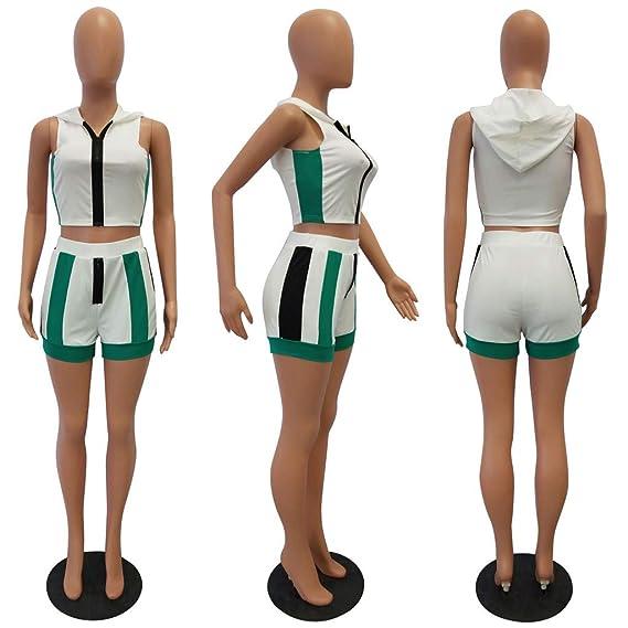Amazon.com: Pantalones cortos con capucha para mujer con ...