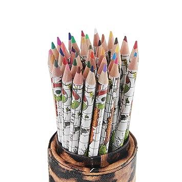 Amazon.com: Clobeau Drawing Color Pencil Sets with Case 36 Pcs ...
