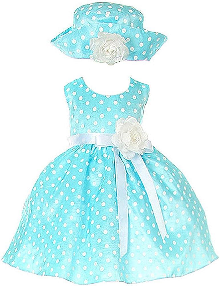 Cinderella Couture Aqua Cute Polka Ranking TOP5 Dress Max 43% OFF Baby Dot Belt with