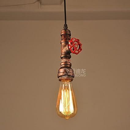 Cabeza única lámpara de cadena ajustable Retro Industrial ...