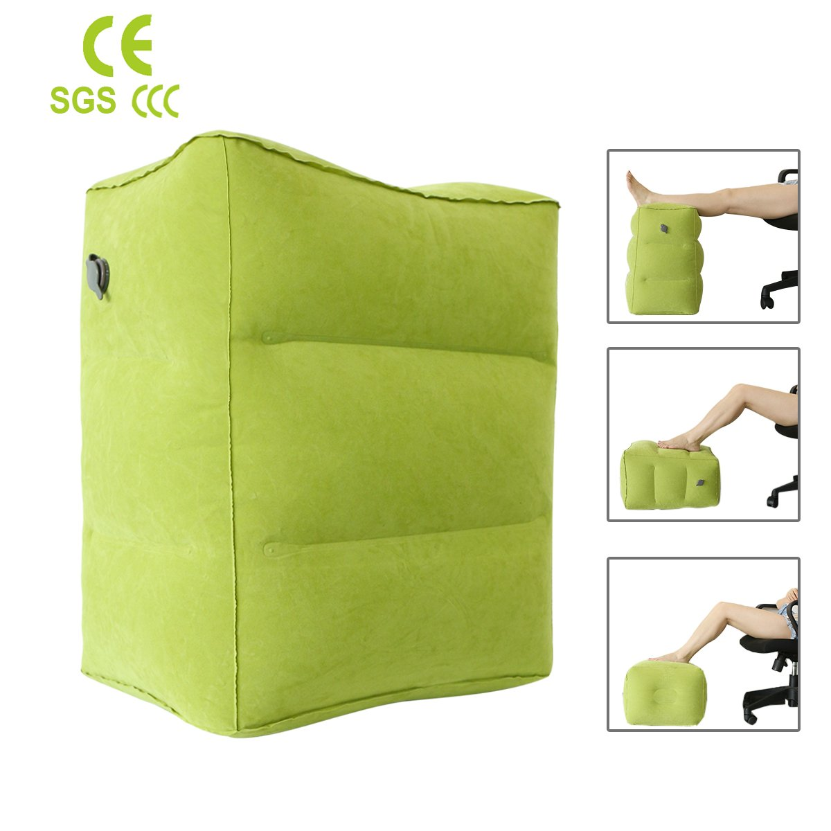 Airplane Pillow for Foot Rest,Portable Travel Accessories Inflatable Blow up Cushion,for Leg Rest on Airplanes, Cars,Home, Trains, Office,and Kids to Sleep on Long Flights or Journeys