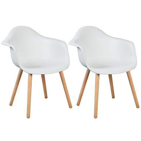 Woltu® Bh37Ws-2 Esszimmerstühle 2Er Set Esszimmerstuhl Mit Lehne