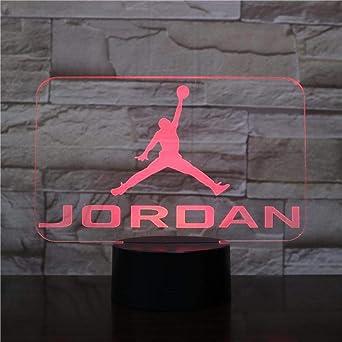 Hombres Jordan Zapatos Baloncesto Luz Nocturna Led 3D Illusion ...