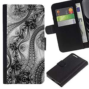 Be Good Phone Accessory // Caso del tirón Billetera de Cuero Titular de la tarjeta Carcasa Funda de Protección para Apple Iphone 6 PLUS 5.5 // Wallpaper Design Pattern Art Fashion Inspiration