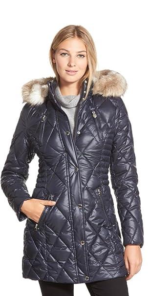 Amazon Laundry By Design Plus Size Faux Fur Trim Quilted Coat