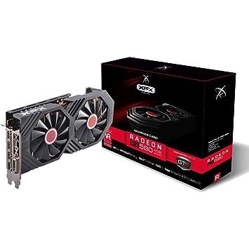 XFX AMD Radeon RX RX-580P427D6 4GB Black Edition - Tarjeta ...