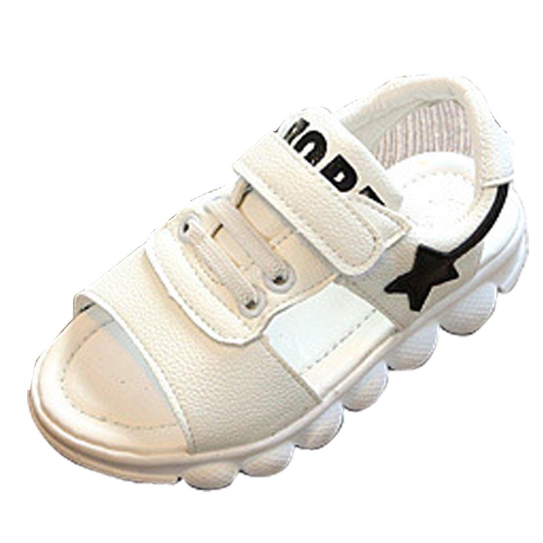 Gaorui Cute Kids Boys Girls Sport Beach Sandals Soft Leather Antiskid Flat Casual Shoes