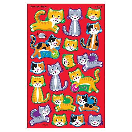 Trend Enterprises Purr-Fect Pets Super Shapes Stickers (144 Piece), (Pets Super Sticker)