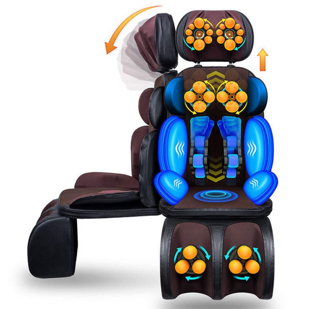 電動マッサージクッション - 背中のマッサージチェア指圧背中と肩のマッサージシートパッドクッション電動全身マッサージ機リラックス首 B07S2P2J1M