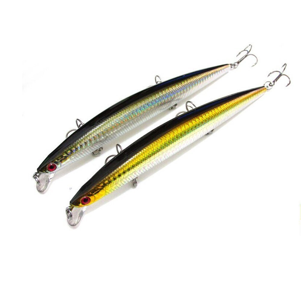 Goture Hard Fishing Bait 2 Pieces Lure Minnow 17cm/27g Floating Lures for Saltwater