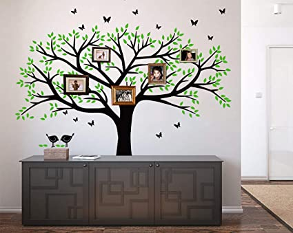 d80f33efbf27 Image Unavailable. Image not available for. Color: LSKOO Family Photo Frame Tree  Wall Decals ...